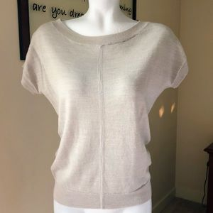Tan The Limited Career Short Sleeve Sweater